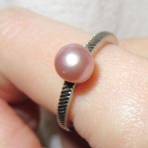 Jewelry - Coral Pearl Sterling Silver Ring